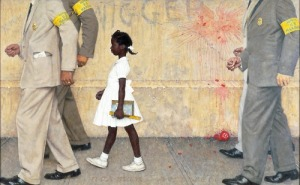 """The Problem we All (STILL) Live With""  by Norman Rockwell"
