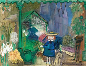 Madeline at the Paris Flower Market 1955