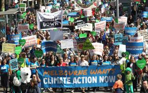 CLIMATE CHANGE RALLY MELBOURNE