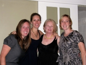 the Maid of Honor, the Bride, the MOB, and Merdith