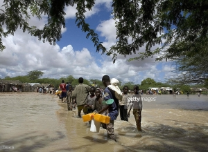 Somali refugees displaced by flooding - Getty Image